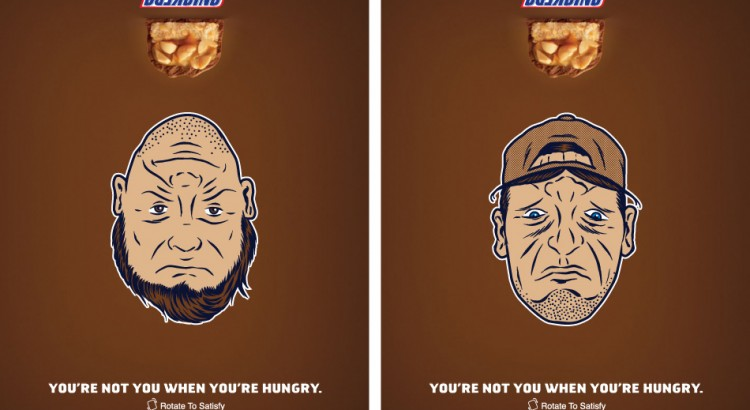 Hongerige mensen worden nog gekker in ads voor Snickers Crisper