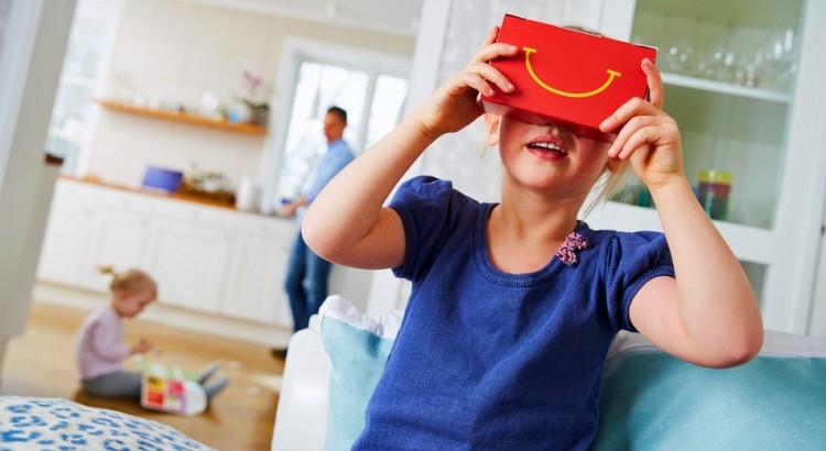 McDonald's maakt Happy Meal-dozen die in Virtual Reality bril veranderen